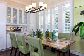Custom Wood Plantation Shutters for Dining Rooms in Jacksonville, Florida (FL)