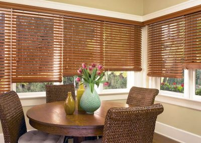 Gallery of Custom Window Treatments for Homes in Jacksonville, Florida (FL) like Horizontal Wood Blinds