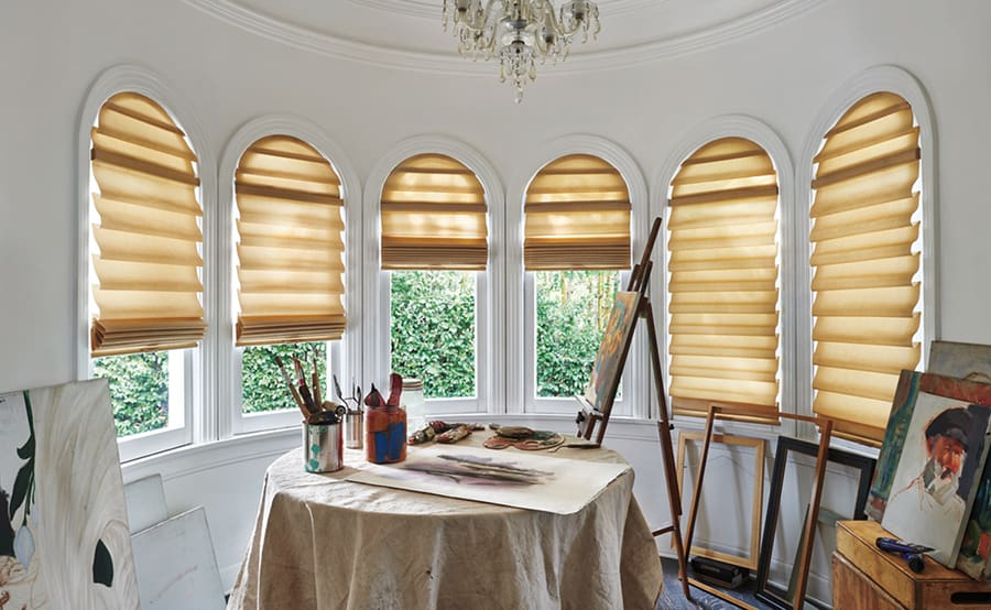 Solera Hunter Douglas Custom Roman Shades for Homes, Offices, and Living Rooms in Jacksonville, Florida (FL)
