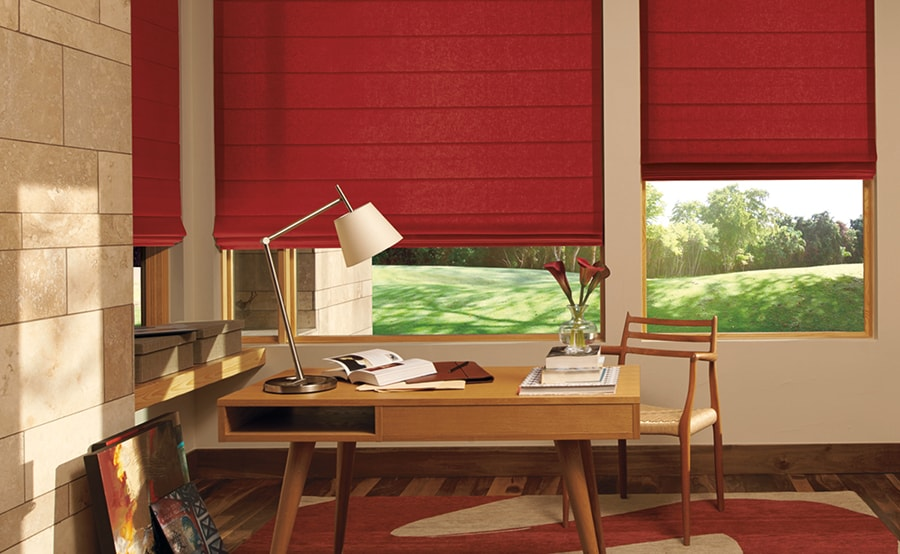 Hunter Douglas Custom Roman Shades for Homes, Art Rooms, and Living Rooms in Jacksonville, Florida (FL)