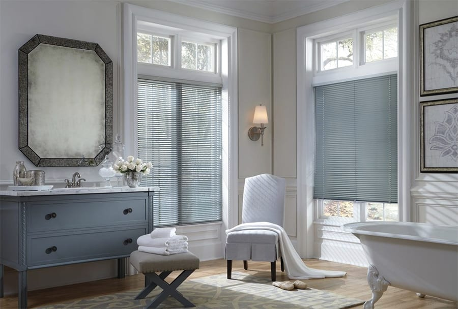 Custom Aluminum Blinds in Jacksonville, Florida (FL) for Windows of Sleek, Unique and Classic Style Bathrooms
