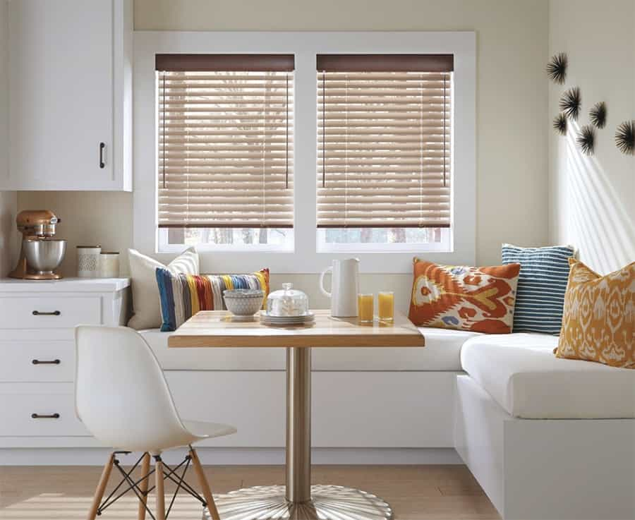 Custom Aluminum Blinds in Jacksonville, Florida (FL) with Beautiful Colors for Modern Dining Room Living Areas