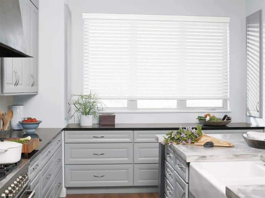 Custom Faux Wood Blinds in Jacksonville, Florida (FL) for Kitchens Made With Alternative, Synthetic Materials