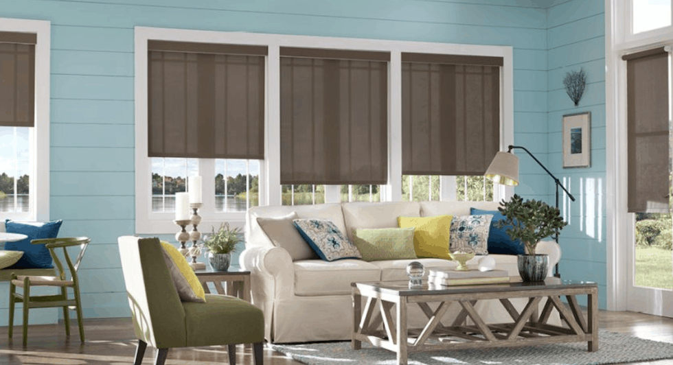 Custom Roller Shades Near Jacksonville, Florida (FL) by Alta Window Fashions for Family and Living Rooms