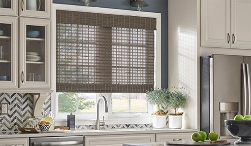 Custom Woven Wood Shades Near Jacksonville, Florida (FL) Using Natural Materials like Bamboo for Light Control
